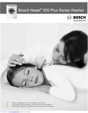 bosch nexxt 500 plus series operation care instructions manual pdf