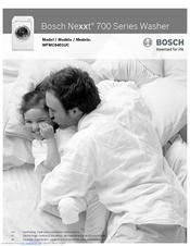 bosch nexxt 700 series manuals rh manualslib com Bosch Nexxt 500 Series Manual bosch nexxt 700 washer manual