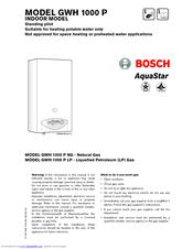 bosch gwh 1600 p lp manuals rh manualslib com bosch aquastar 1600p manual Bosch AquaStar 125B Parts