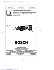 Bosch 1634VS Operating/Safety Instructions Manual
