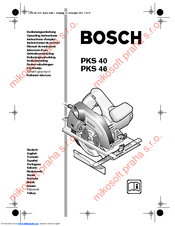 Bosch PKS 40 Operating Instructions Manual