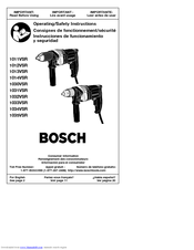 Bosch 1011VSR Operating/Safety Instructions Manual