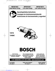 Bosch 1347AK - 4-1/2 Small Angle Grinder Operating/Safety Instructions Manual