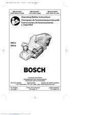 Bosch 53514 Operating/Safety Instructions Manual