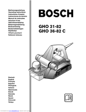 Bosch GHO 36-82 C Operating Instructions Manual