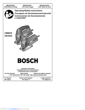 Bosch 1591EVS Operating/Safety Instructions Manual