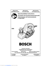 Bosch 3365 - 3-1/4 Planer w/ Parallel Guide Fence Operating/Safety Instructions Manual