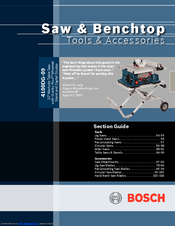 Bosch 4100 10 Inch Worksite Table Saw Manuals