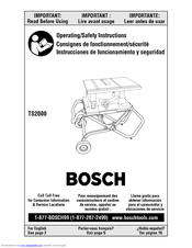 bosch ts2000 manuals rh manualslib com Bosch 4100Dg Table Saw Accessories Bosch 4000 Table Saw