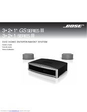 bose gs series iii 3 2 1 owner s manual pdf download rh manualslib com Bose 321 GS Bose Home Theater System