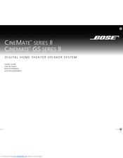 bose cinemate series 1 manual