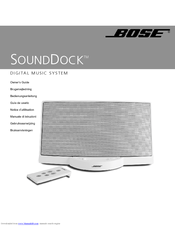 bose sounddock portable digital music system manuals rh manualslib com bose sounddock 10 user manual Bose SoundDock Portable