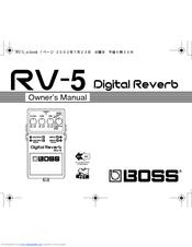 boss digital reverb rv 5 manuals rh manualslib com Boss RV-3 Sch Boss Reverb Delay