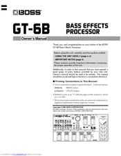 boss gt 6b manuals rh manualslib com Boss GT-6B Bass boss gt-6b manuel français