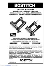Ehf1838k, lhf2025k pneumatic flooring stapler manual need an.
