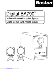 boston acoustics digital ba790 manuals rh manualslib com boston acoustics z6 manual boston acoustics manual