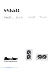 boston acoustics vri in wall subwoofer vrisub82 vrisub82 manuals rh manualslib com boston acoustics cr8 manual boston acoustics mc200air manual
