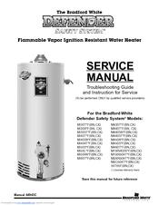 bradford white m450s series manuals rh manualslib com Bradford White 50 Gallon Water Heater Bradford White Water Heater Troubleshooting
