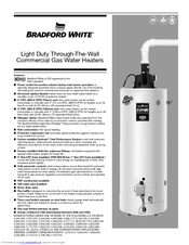Bradford White Gas Water Heaters Manuals Manualslib