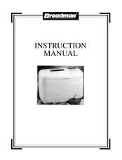 Breadman tr700 manual.