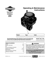 Briggs         Stratton       210000    Series Manuals