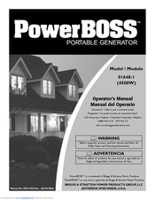 Briggs & Stratton POWERBOSS 01648-1 Manuals