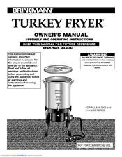 brinkmann turkey fryer 815 3500 series manuals rh manualslib com Brinkmann Turkey Fryer Troubleshooting Brinkmann Deep Fryer