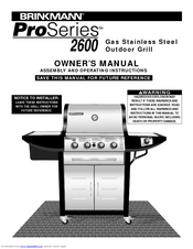 brinkmann proseries 2600 manuals rh manualslib com Brinkmann Charcoal Smoker Grill Home Depot Brinkmann Gas Grill