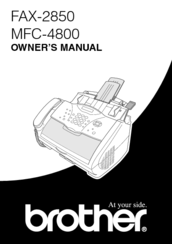 brother 2850 owner s manual pdf download rh manualslib com Brother Fax 4100 brother 2850 fax machine manual