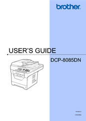 Brother DCP 8085DN User Manual