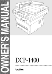 Brother DCP-1400 Owner's Manual