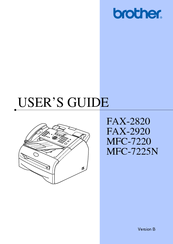 brother intelli fax 2920 manuals rh manualslib com brother 2820 instruction manual brother intellifax 2820 user manual pdf