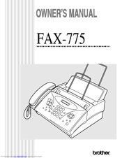 brother fax 775 owner s manual pdf download rh manualslib com Brother Fax M426 brother intellifax 775 user manual