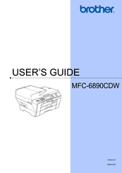 Brother MFC-6890CDW - Color Inkjet - All-in-One User Manual