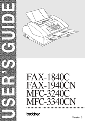 Brother MFC MFC-3340CN Manual