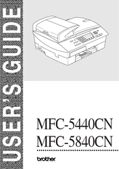 Brother MFC-5840CN Manual