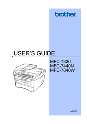 Brother MFC-7840W User Manual
