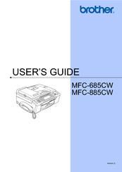 Brother MFC 885CW - Color Inkjet - All-in-One User Manual