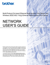 Brother DCP 8085DN Network User's Manual