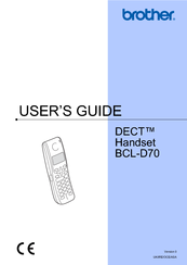 Brother DECT BCL-D70 User Manual