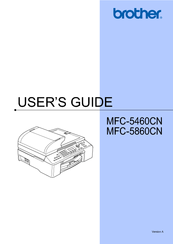 Brother MFC-5460CN User Manual