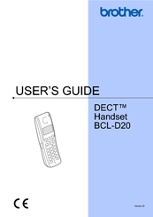 Brother BCL-D20 User Manual