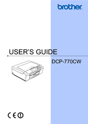 Brother DCP-770CW User Manual