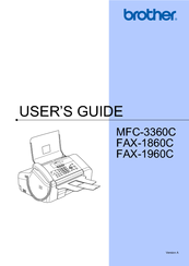 Brother MFC 3360C - Color Inkjet - All-in-One User Manual