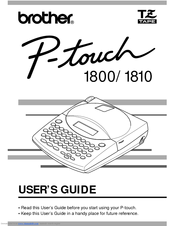 Brother P Touch 1800 Manuals