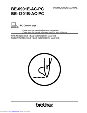 Brother BE-0901E PC Instruction Manual