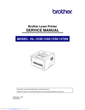 Brother 1270N Service Manual