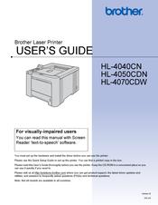 brother hl 4040cdn color laser printer manuals rh manualslib com User Guide Icon Example User Guide