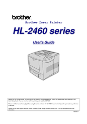 Brother 2460 hl b/w laser printer manuals.