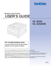 Brother HL-5250DN WHQL certified PCL Windows 7 64-BIT
